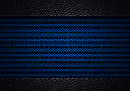 Abstract modern blue black carbon fiber textured material design for background, wallpaper, graphic design Фото со стока