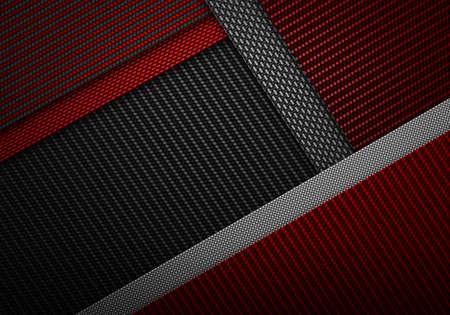 dark fiber: Abstract modern red black carbon fiber textured material design for background, wallpaper, graphic design