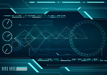 electronic circuit:  Abstract digital image technology interface concept witn circuit microchip background on metal plate Stock Photo