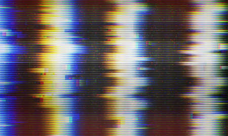 Abstract illustration of tv screen signal error. Glitch effect background. Conceptual image of vhs dead pixels.