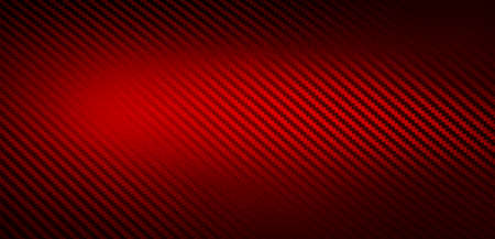 Metallic shiny texture of red carbon fiber self-adhesive paper. Material for racing car modification. Material design for background, wallpaper, graphic design