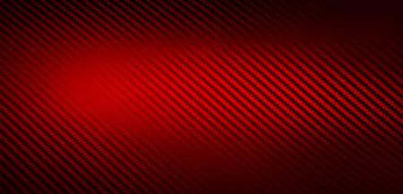 Trama metallica lucida di carta autoadesiva in fibra di carbonio rossa. Materiale per la modifica di auto da corsa. Design dei materiali per sfondo, carta da parati, design grafico