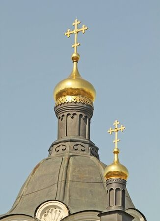 The crosses of orthodox church in Russia photo