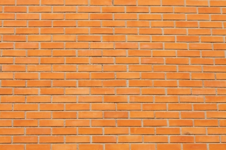 else: Just a red brick wall, nothing else Stock Photo