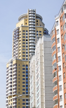 The modern apartment stores in the city