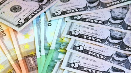Dollars and euros Stock Photo - 14802722