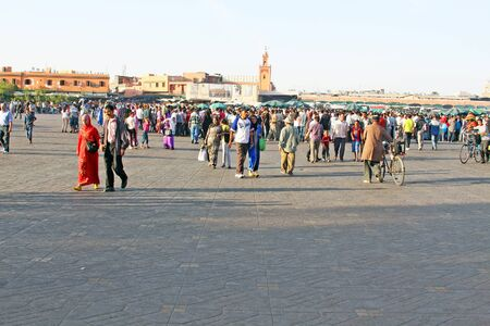 Djemaa el Fna - famous square and market place in Marrakesh Stock Photo - 14962664