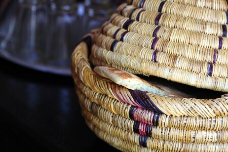 wickerwork: Wicker ware and other dishes
