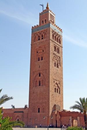 prayer tower: Moschea Koutoubia a Marrakech, Marocco Archivio Fotografico
