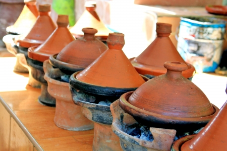 Moroccan ceramic cookware - tajines Stock Photo - 15848243
