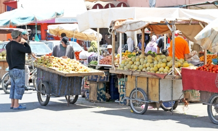 Fruits in street market in Marrakesh, Morocco
