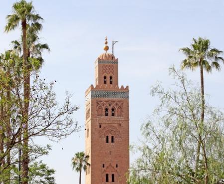 Koutoubia mosque in Marrakesh, Morocco