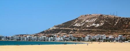 アガディール、モロッコに作られた美しいビーチの写真 写真素材