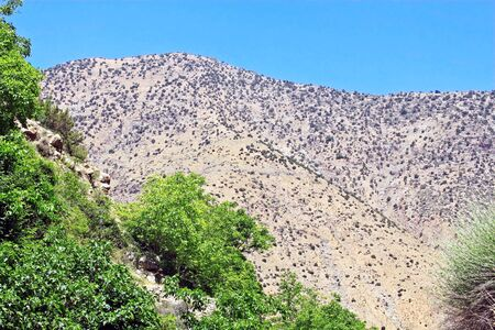 Beautiful view of mountains in sunny day