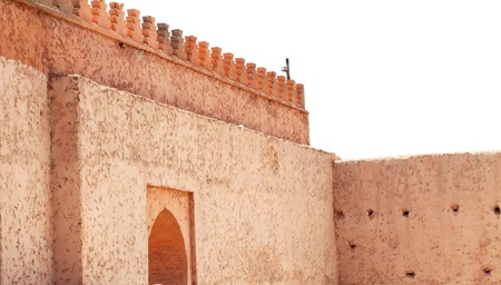 ramparts: Old city wall with gate in Marrakesh