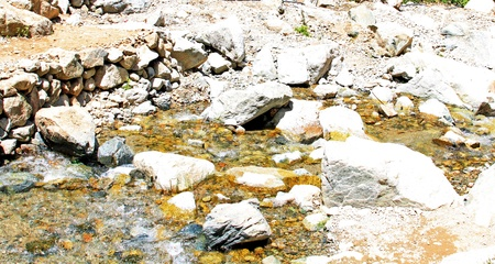 Mountain river and stones