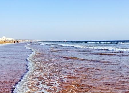 アガディール、モロッコに作られた美しいビーチ画像 写真素材