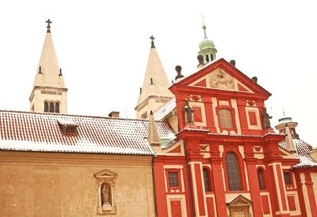 St. Georges Basilica in Prague Castle located in Prague, Czech Republic  photo