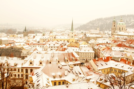 Panorama of Prague with its landmarks photo