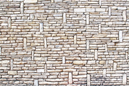 The gray stone wall texture