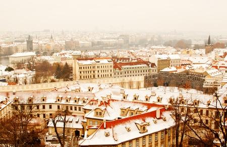 Panorama of Prague with its landmarks photo