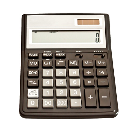 Picture of calculator  Isolated on white background