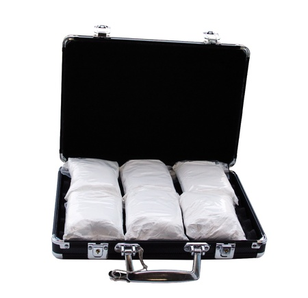 Cocaine in a suitcase  photo