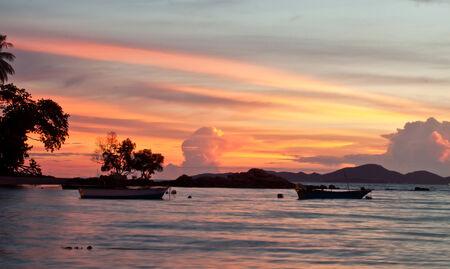 amat: Pattaya, Thailand, Wongamat beach on sunset (koh larn view)