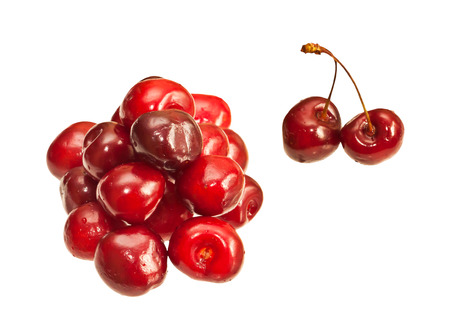 Cherries isolated on white background Stock Photo