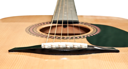 instrumentalist: Picture of acoustic guitar, isolated on the white background