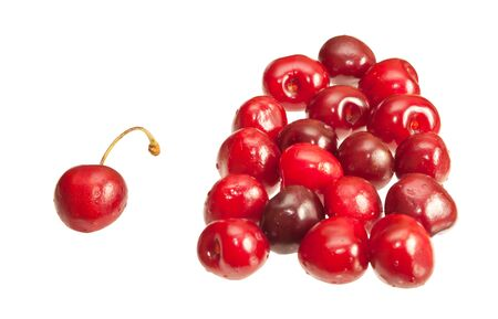 Cherries isolated on white background Stock Photo