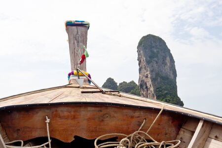 railey: Railay beach Krabi, Thailand. Picture made from longtail boat