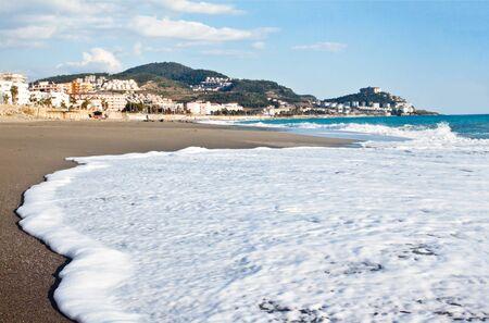 alanya: Beach in Mahmutlar, Alanya, Turkey