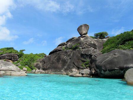 similan islands: Beautiful Rock on Similan Islands, Thailand