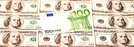 Two leading currencies - US Dollar and Euro
