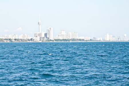 Panorama of Pattaya (picture made from the sea)