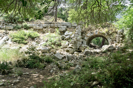 Ruins of ancient Lycian town of Olympos (Cirali, Turkey) Stock fotó