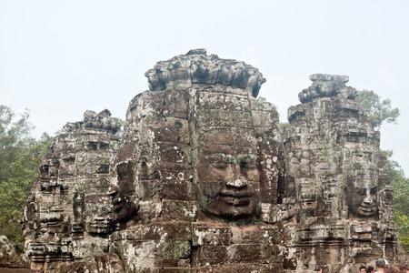Bayon temple in Angkor Thom, Siemreap, Cambodia 写真素材