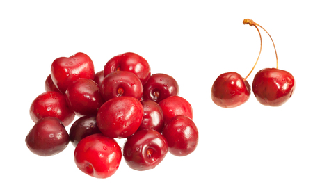 Cherries isolated on white background 写真素材