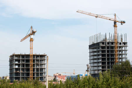 built in: New homes are being built in the city