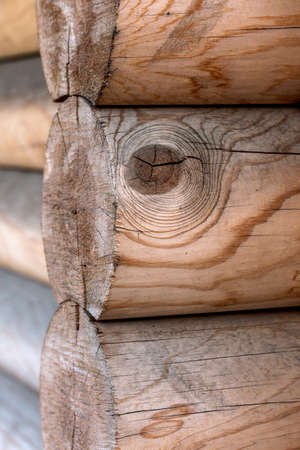 calibrated: The wall of a wooden house from calibrated logs