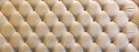 Stitch Kapiton decorative upholstery headboard Stock Photo