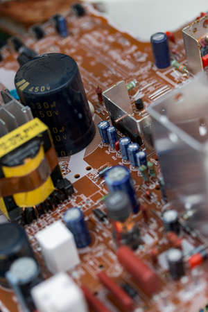 Waste of board electronics, microcircuits, capacitors, transistors