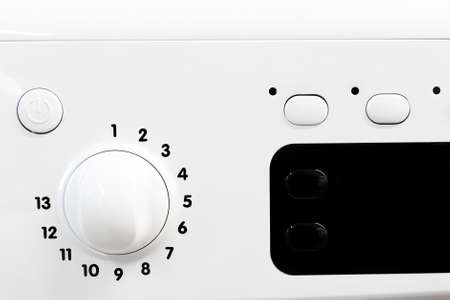 regulator on the control panel of household appliances. details for the advertising designer Banque d'images