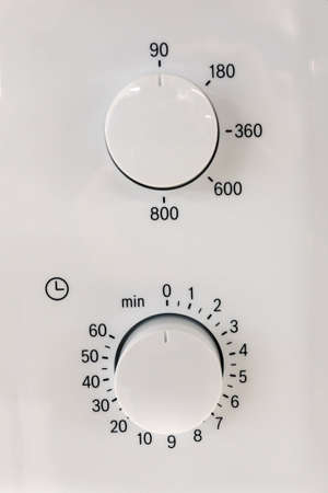 regulator on the control panel of household appliances. details for the advertising designer Foto de archivo - 101548114
