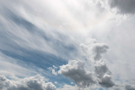large heavy clouds in cloudy weather Stock Photo