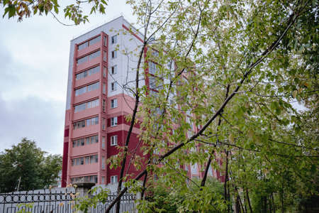 modern urban multi-storey apartment building with balconies 写真素材