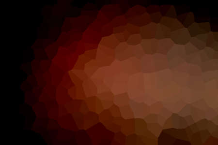 abstract mosaic of colored polygons on a dark background i