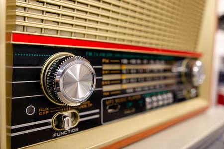 vintage control panel of modern radio settings