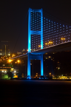 Bosphorus Bridge from Istanbul, Turkey Stock Photo